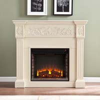 Harper Blvd Wellington Ivory Electric Fireplace