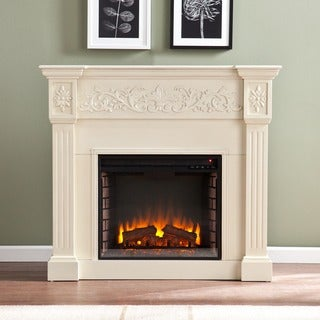 Gracewood Hollow Zitkala Ivory Electric Fireplace