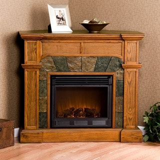 Hollandale Mission Oak Electric Fireplace