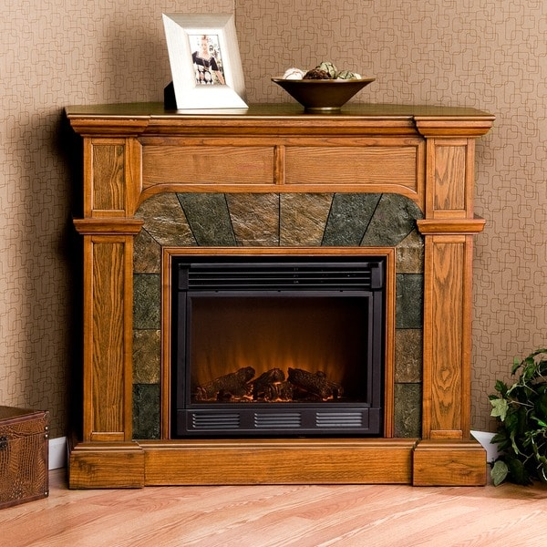 Hollandale Mission Oak Electric Fireplace - Hollandale Mission Oak Electric Fireplace - Free Shipping Today