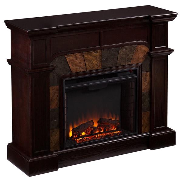 Harper Blvd Hollandale Espresso Electric Fireplace