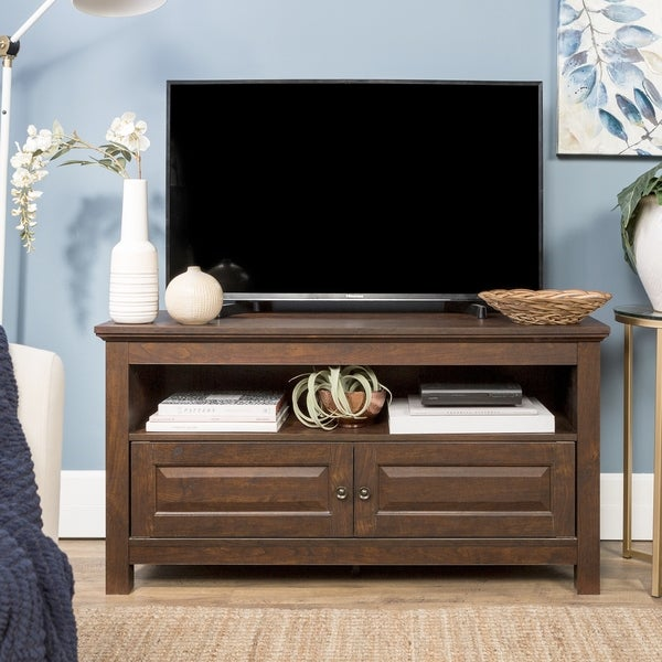 44 Tv Stand Console Traditional Brown X 16
