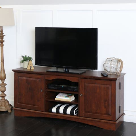 Middlebrook Designs 57-inch TV Stand Console, Traditional Brown, Entertainment Center - 57 x 16 x 24h
