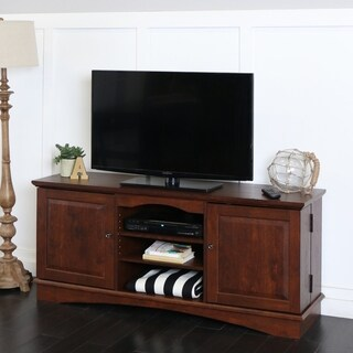 60-inch Brown Wood TV Stand