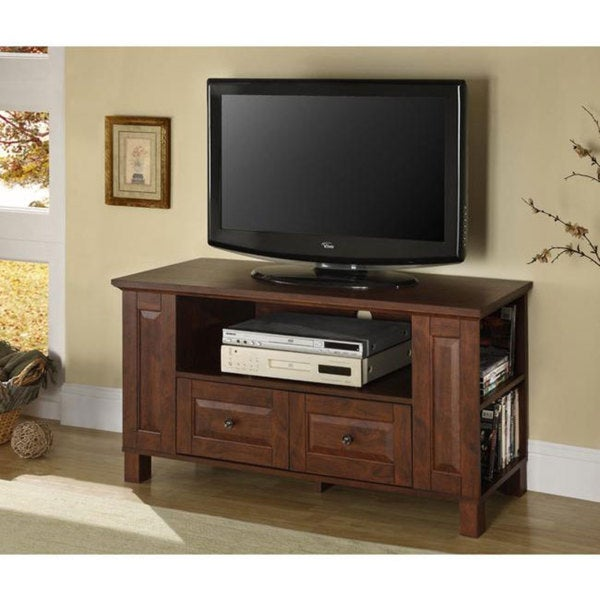 44inch classic brown wood tv stand