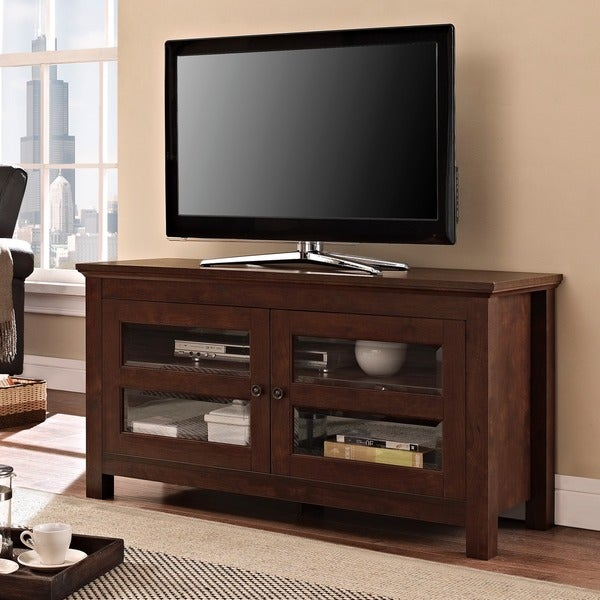 Furnishing Around Art Simple Entertainment Room Part 2: 44-inch Brown Wood TV Stand