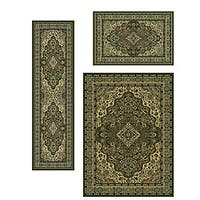 Admire Home Living Traditional Caroline Medallion Sage (Set of 3) - 5'5 x 7'7