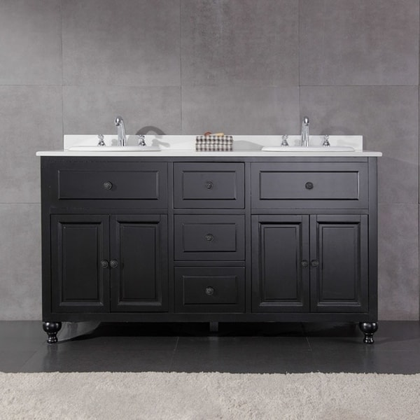 Shop Ove Decors Keith 60 Inch Double Sink Bathroom Vanity With
