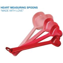 Heart Measuring Spoons (Pack of 4) - Thumbnail 1