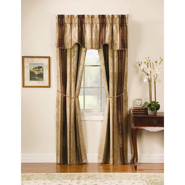 Tuscan Jacquard Autumn 5-piece Window Treatment Set