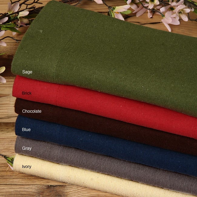 LCM Home Fashions Royal Elegance Solid Flannel Sheet Set ...