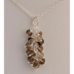 Sterling Silver Smoky Quartz Cascade Necklace