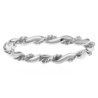 Sterling Silver Handmade Twisted Ring Band
