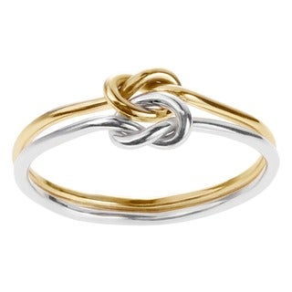 Goldfill Sterling Silver Handmade Double Band Love Knot Ring