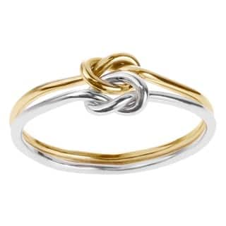 Goldfill Sterling Silver Handmade Double Band Love Knot Ring|https://ak1.ostkcdn.com/images/products/5394063/P13191711.jpg?impolicy=medium