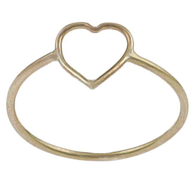 Goldfill Heart Cutout Ring