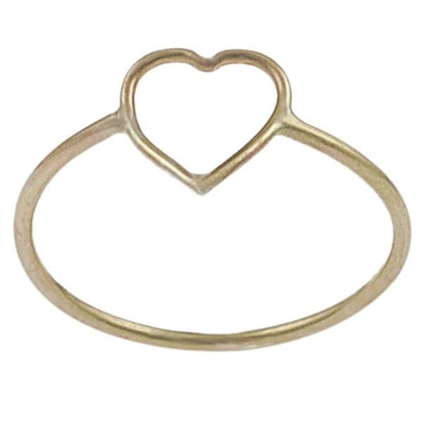 Goldfill Heart Cutout Ring Free Shipping Orders Over $45