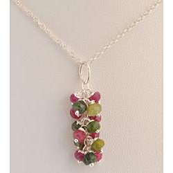 Sterling Silver Tourmaline Cascade Necklace - Thumbnail 1