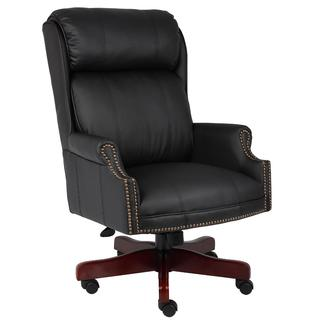 Boss Traditional Black Upholstered Executive Chair
