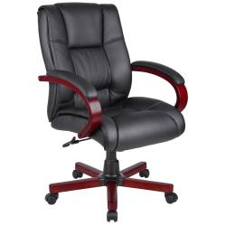 BOSS Mid-back Wood-trim Executive Chair