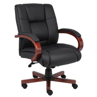 BOSS Mid-back Wood-trim Executive Chair (2 options available)