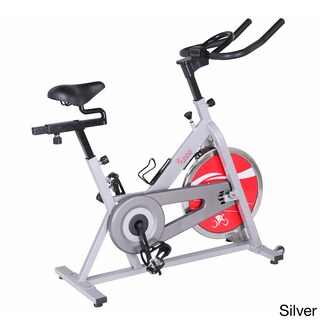 Sunny Health & Fitness SF-B1001S Heavy-duty Indoor Cycling Bike (Option: Silver)