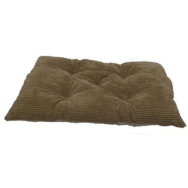 Tufted Coffee Plush Chenille Corduroy Crate Polyester Pet Pad