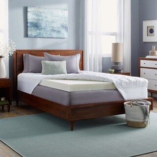Slumber Solutions 4-inch Memory Foam and 1.5-inch Fiber Mattress Topper (5 options available)