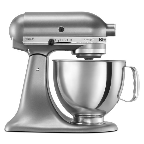Shop Kitchenaid Ksm150pscu Contour Silver 5 Quart Artisan