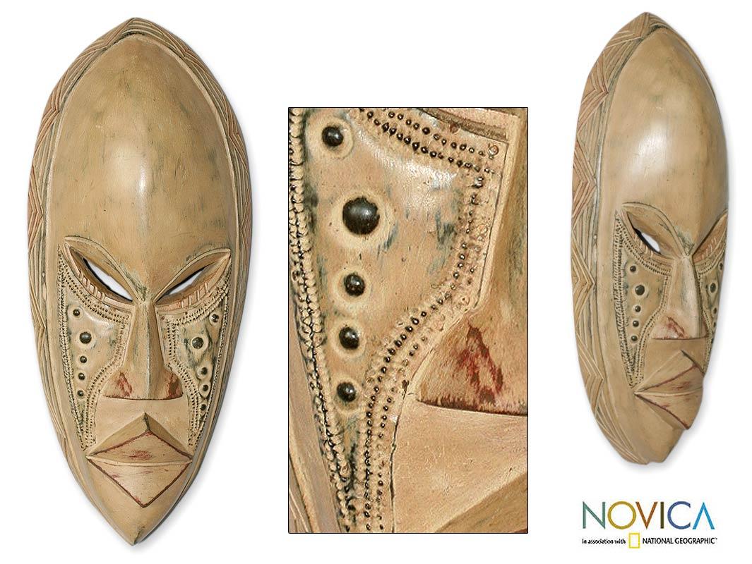 Sese Wood 'Hope' Ewe Mask (Ghana)