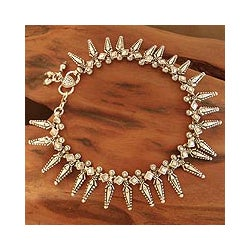 Sterling Silver 'Angel Chorus' Anklet (India)