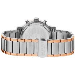 August Steiner Men's Quartz Chronograph Rose-Tone Watch - Thumbnail 1