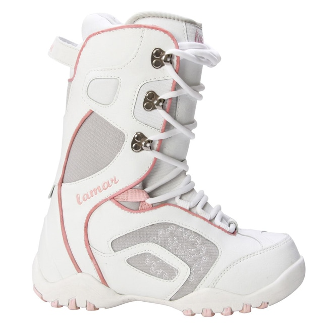 Lamar Force Women's White/ Grey Snowboard Boots - Thumbnail 0