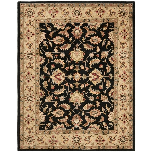 Safavieh Handmade Heritage Timeless Traditional Black/ Gold Wool Rug (9'6 x 13'6)