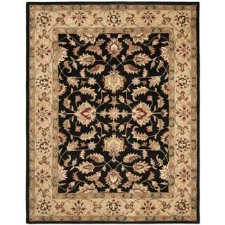 Safavieh Handmade Heritage Timeless Traditional Black/ Gold Wool Rug - 12' x 15'