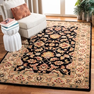 Safavieh Handmade Heritage Timeless Traditional Black/ Gold Wool Rug (2' x 3')