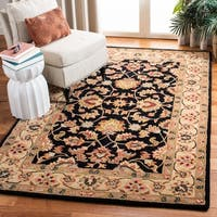 Safavieh Handmade Heritage Timeless Traditional Black/ Gold Wool Rug - 2' x 3'