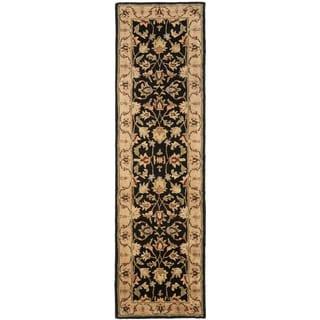 Safavieh Handmade Heritage Timeless Traditional Black/ Gold Wool Runner (2'3 x 10')