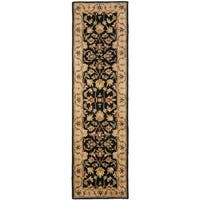 Safavieh Handmade Heritage Timeless Traditional Black/ Gold Wool Runner Rug - 2'3 x 10'
