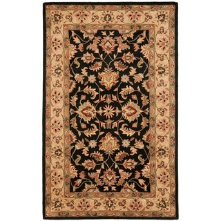 Safavieh Handmade Heritage Timeless Traditional Black/ Gold Wool Rug (6' x 9')