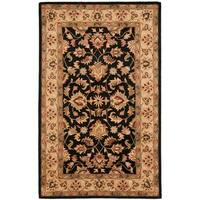 Safavieh Handmade Heritage Timeless Traditional Black/ Gold Wool Rug - 6' x 9'