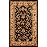 Safavieh Handmade Heritage Timeless Traditional Black/ Gold Wool Rug - 6' x 9'