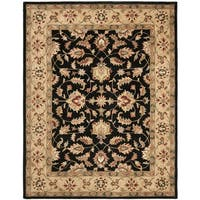 Safavieh Handmade Heritage Timeless Traditional Black/ Gold Wool Rug (7'6 x 9'6)