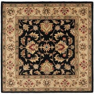 Safavieh Handmade Heritage Timeless Traditional Black/ Gold Wool Rug (8' Square)