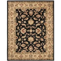 Safavieh Handmade Heritage Timeless Traditional Black/ Gold Wool Rug - 8'3 x 11'