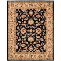 "Safavieh Handmade Heritage Timeless Traditional Black/ Gold Wool Rug - 8'-3"" x 11'"
