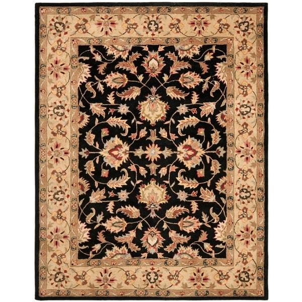 "Safavieh Handmade Heritage Timeless Traditional Black/ Gold Wool Rug - 8'3"" x 11'"