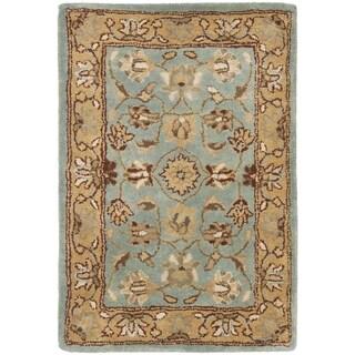 Safavieh Handmade Heritage Timeless Traditional Blue/ Gold Wool Rug (2' x 3')