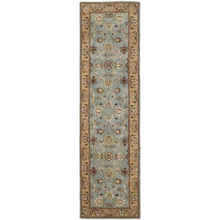 Safavieh Handmade Heritage Timeless Traditional Blue/ Gold Wool Runner (2'3 x 10')