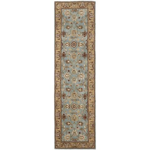 "Safavieh Handmade Heritage Timeless Traditional Blue/ Gold Wool Runner Rug - 2'3"" x 12'"
